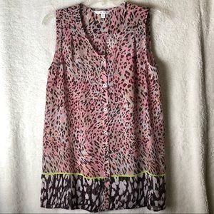 CAbi Sleeveless printed blouse